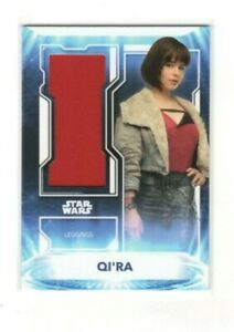QI'RA 2021 Star Wars Battle Plans Leggings Relic Card Emilia Clarke 145/149