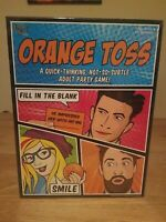 Orange Toss An Adult Party Game by University Games  SEALED