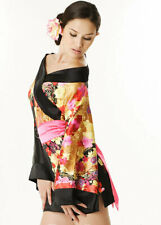 Women Japanese Kimono Top Babydoll Lingerie Dress Nightwear Chemise Negligees