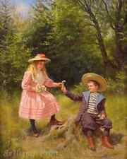 Spring Delights by Ernst Schmitz - Children Girl Boy 8x10 Print Picture 1540