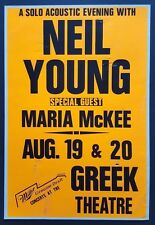 NEIL YOUNG Original Promo Concert Poster 1989 CSNY Buffalo Springfield PEARL JAM