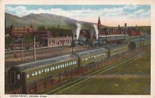 Postcard Railroad Union Depot Ogden Utah