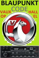 Unlock Pin Code provided VAUXHALL OPEL CORSA BLAUPUNKT Radio Stereo