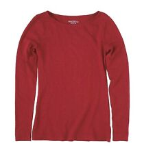 88f1be43 J.Crew Factory Womens XS - NWT - Burgundy Red Long Sleeve Boat Neck Artist