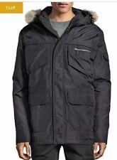 - PAJAR James Down Parka Coat Jacket Black w/ Real Fur Trim Hood Men's Large