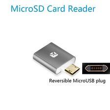 Meenova Dash Micro G3 Mini MicroSD Card OTG Reader with Reversible MicroUSB Gray