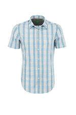 Hugo Boss Green Bastiano Check Shirt - Size Medium / M Regular Fit