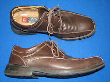 10.5 M CHAPS Mens Brown Leather Ralph Lauren Laces Loafers Shoe 96 98048 Loafer