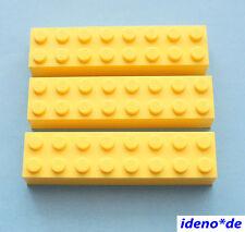LEGO Basic City Bau  Creator 5 Stk.Stein 2 x 6 gelb 2456 yellow NEU