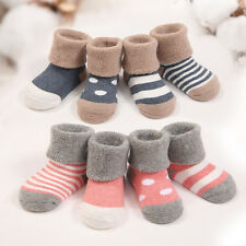 4 Pares / Set Niños Calcetines algodón Suaves Medias Bebé Invierno Socks