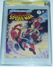 CGC 8.5 SPECTACULAR SPIDER-MAN #2-MARVEL COMICS-SIGNED STAN LEE & JOHN ROMITA