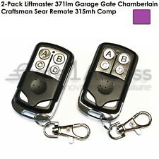 2-Pack Liftmaster 371lm Garage Gate Chamberlain Craftsman Sear Remote 315mh Comp