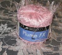 NEW BERROCO PLUME FX Blush Pink Eyelash Yarn 50 g Polyester France Made 67 42 30