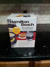 HAMILTON BEACH BREAKFAST SANDWICH MAKER MODEL#25475