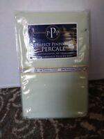 Perfect Pinpoint Percale Mint King Pillowcase Set 100% Egyptian Cotton 400 TC