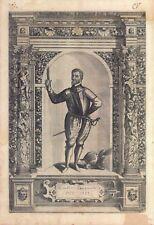 Cintius Capizucchi - Incisione originale G.B. Fontana, D. Custos 1600