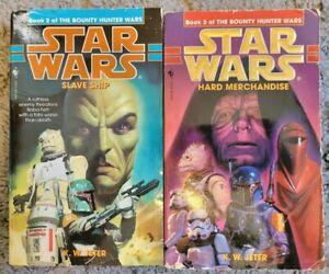 Star Wars The Bounty Hunter Wars by K.W. Jeter Paperback #2, 3 2 Book Lot Vntg