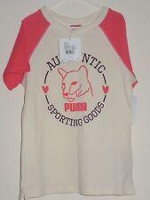 neuf Puma 10 ans blanc cassé T-shirt Graphique T-shirt garçon fille