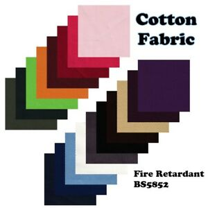 Cotton Drill Fabric Fire Retardant / Resistant Upholstery material by the metre
