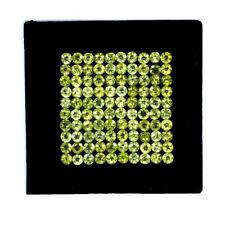 VVS 100 Pcs Natural Peridot 5mm Round Sparkling Top Quality Untreated Gemstones