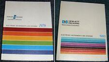 1979 + 1980 HEWLETT-PACKARD Test & Measurement CATALOGS Electronic Instruments