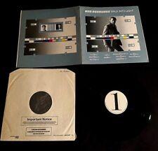 1983 IAN ANDERSON JETHRO TULL WALK INTO LIGHT UK TEST PRESSING LP W/ ALBUM SLICK