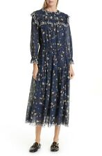 7418906f8cedf ISABEL MARANT Etoile Navy Blue Floral Print EINA Cotton Midi Maxi Dress 34  US 2