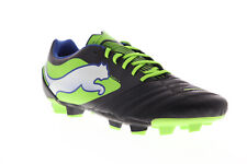 Puma Powercat 4 FG 10280401 Mens Black Leather Athletic Soccer Cleats Shoes 13