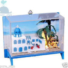 DIY Handcraft Miniature Project Kit My Ocean Style Villa in Greece Dolls House
