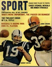 1962 (Dec) Sport Magazine Football Jim Brown,Cleveland, Johnny Unitas,Colts GdNL
