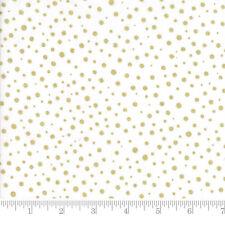 Moda Fabric Modafications Metallic Dots White - Per 1/4 Metre