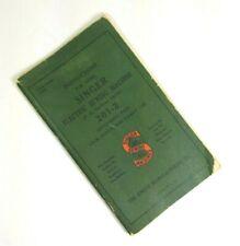 1947 Singer 201-2 Electric Sewing Machine Instruction Manual Original Vintage