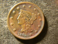 1841 XF Coronet Head Braided Hair Large Cent  NJX