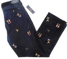 Polo Ralph Lauren Men 32X30 NWT $145 Blue Cord Pant Thick Wale Cotton Hunter NEW