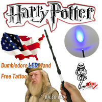 New Harry Potter Cosplay Dumbledore Wizard LED Magic Wand Elder Wand Free Tattoo
