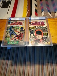 Two CGG (PGX) 6.0 & 6.5 Daredevil #9 & Daredevil #26 Graded Comic Lot