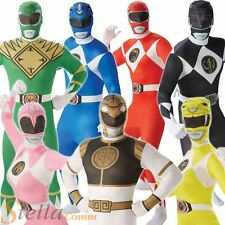Adult Mighty Morphin Power Rangers Fancy Dress Costume Mens Ladies 2nd Skin