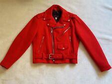 TRIPP Women's Red Wool Motorcycle Jacket S Moto Coat Haight Ashbury SF Vtg 90's