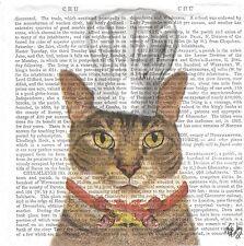 3 Serviettes papier Cocktail Chat Charlie Cuisinier Paper Napkins Cat