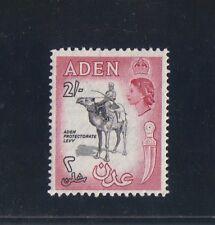 Aden #57A 1956 2/- Definitive Second Printing VF MLH Carmine and Black SCV $14
