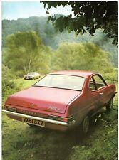 Vauxhall Firenza Early-Mid 1972 UK Market Sales Brochure 1256 1800 2300 DL SL