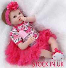 "Bambole 22"" Full Handmade Newborn Reborn Doll Lifelike Baby Girl Gift Real Dolls"