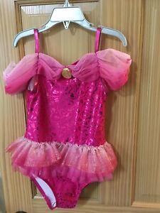 NWT Disney Store Princess Aurora Swimsuit 1pc UPF 50+ Girls Sleeping Beauty