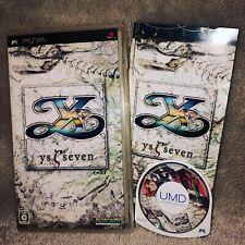 Ys Seven 7 PSP Jap Complet