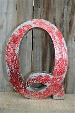 MEDIUM VINTAGE STYLE 3D RED Q SHOP SIGN LETTER TIN WALL ART LETTER FONT