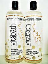 VITABATH Foaming Bath COCONUT VANILLA CREME, Jumbo Size 38 fl. oz/1.1 L, NEW x 2