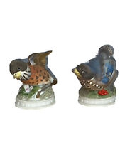 Lefton China Robin KW1637R & Bluebird KW1637Figurine Hand Painted Japan Vintage