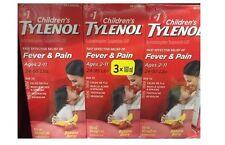 Tylenol Children's Liquid Pain & Fever, Ages 2-11, Banana Berry, 3 X 100 ml New