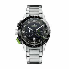 Edox 103053NVMNV Men's Chronorally1 black Quartz Watch