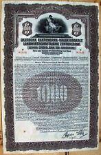 "German Gold $1000 bond ""Central Bank for Agriculture"", 1927"